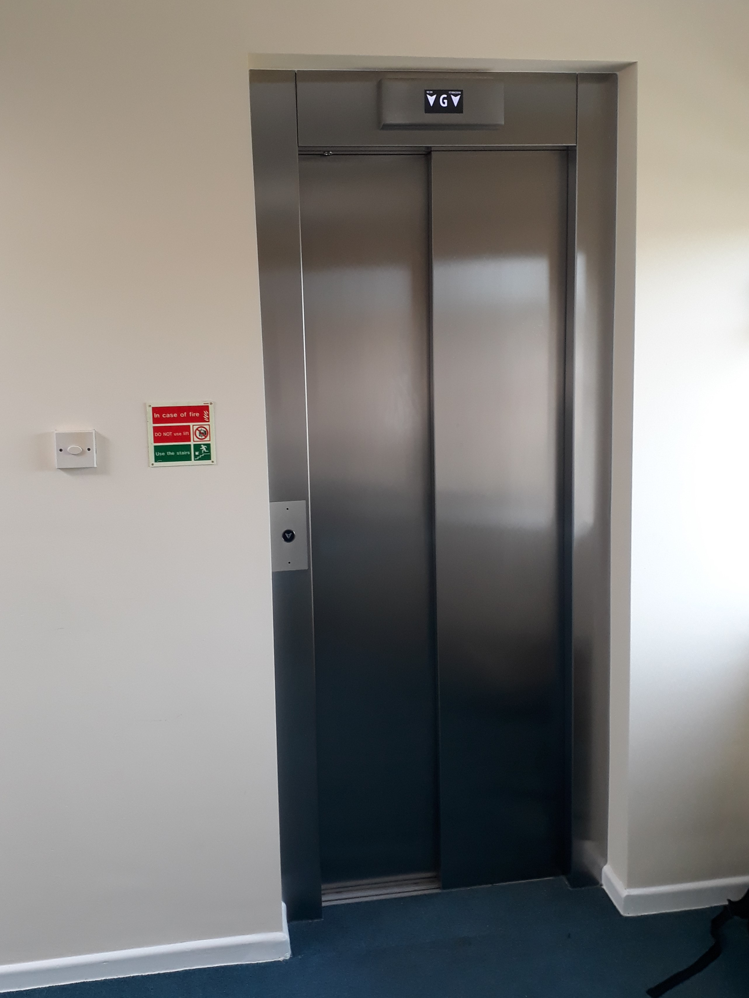 Lift Entrance after refurbishment